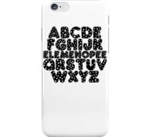 Elemenopee Alphabet Funny iPhone Case/Skin