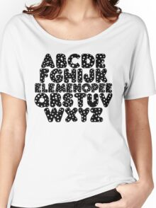 Elemenopee Alphabet Funny Women's Relaxed Fit T-Shirt