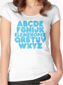 Elemenopee Alphabet Funny Women's Fitted Scoop T-Shirt