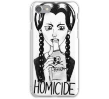 Wednesday Addams- Homicide iPhone Case/Skin