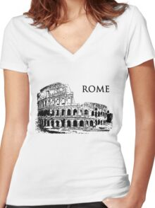 Rome Women's Fitted V-Neck T-Shirt