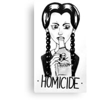 Wednesday Addams- Homicide Canvas Print