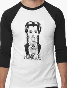 Wednesday Addams- Homicide Men's Baseball ¾ T-Shirt