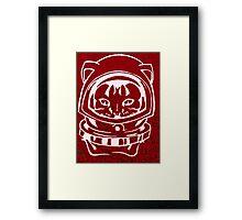 RED GALAXY SPACE CAT SMARTPHONE CASE (Graffiti) Framed Print