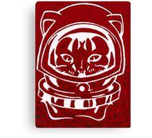 RED GALAXY SPACE CAT SMARTPHONE CASE (Graffiti) Canvas Print