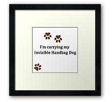 Invisible Handbag Dog Framed Print
