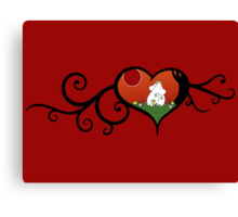 Moomin True Love Canvas Print