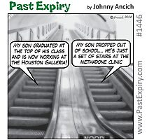 Cartoon : Escalator Envy Photographic Print