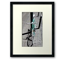 Stylish green bicycle Framed Print
