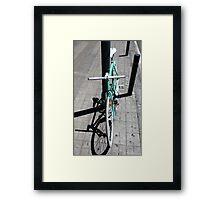 Stylish green bicycle Framed Print