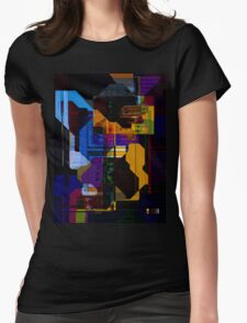 Techno Abstract Womens Fitted T-Shirt