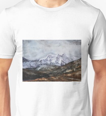 Snowdon Horseshoe in Winter Unisex T-Shirt