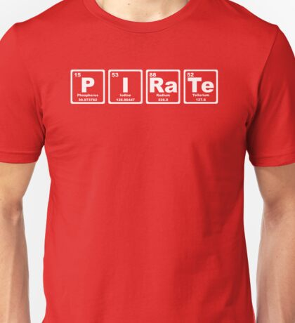 Pirate - Periodic Table Unisex T-Shirt