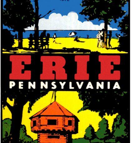 Erie Pennsylvania Vintage Travel Decal Sticker