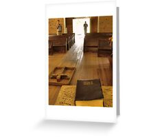 """""""Cades Cove Missionary Baptist Church: Interior Design""""... prints and products Greeting Card"""