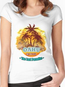 Oahu The Last Paradise Women's Fitted Scoop T-Shirt
