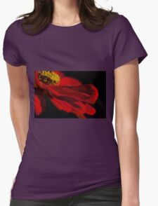 Red Petals  Womens Fitted T-Shirt