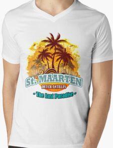 St Maarten The Last Paradise Mens V-Neck T-Shirt