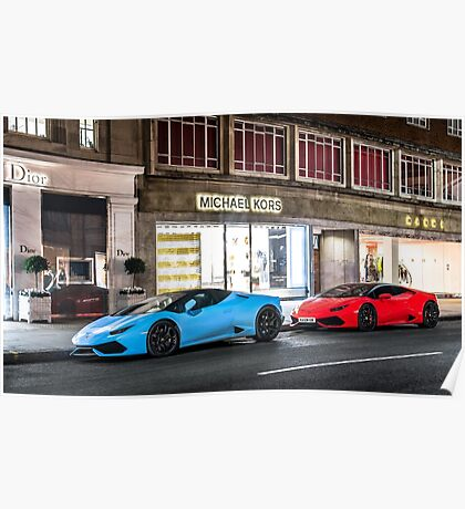 Huracan LP610-4 Spyder & Coupe  Poster