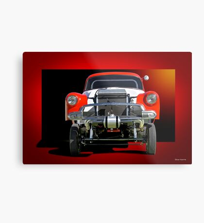 1951 Chevy 'B Gas' Gasser Metal Print