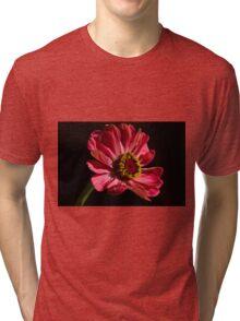 Pink Zinnia  Tri-blend T-Shirt