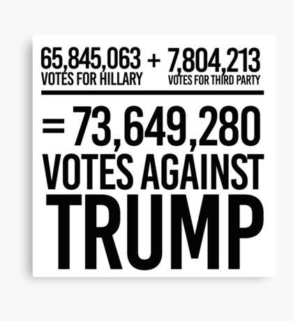 73,649,280 Votes against Trump Canvas Print