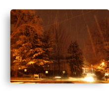 """""""A Snowy Evening in Knoxville"""" (no.9, from this series)... products Canvas Print"""