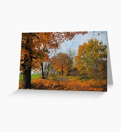 Autumnal Silence Greeting Card