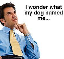 I Wonder What My Dog Named Me by heyericamay