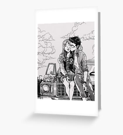 Drive in movies Greeting Card