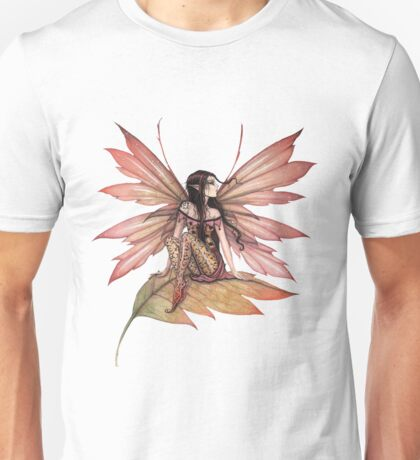 Autumn Drifting Fairy Fantasy Art Unisex T-Shirt