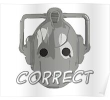 Doctor Who Cyberman Correct Poster