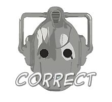Doctor Who Cyberman Correct Photographic Print