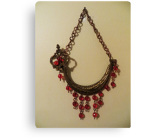 Red Crystal Ship - Wall Jewellery Canvas Print