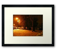 """A Snowy Evening in Knoxville"" (no.4, from this series)... products  Framed Print"