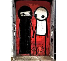 Street art by Stik in the Shoreditch area of London Photographic Print