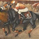 To The Finish - Race Horse Art by Horseworks