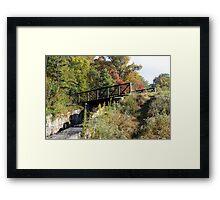 Mountain Bridge Framed Print