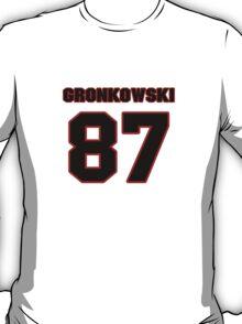 NFL Player Rob Gronkowski eightyseven 87 T-Shirt
