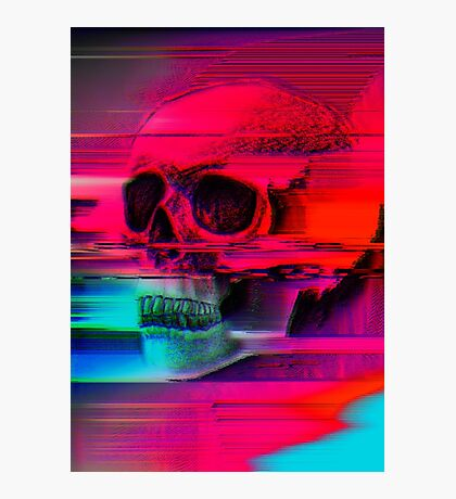 Mortality Glitch Photographic Print