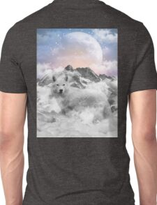 The Soul That Sees Beauty (Winter Moon / Wolf Spirit) Unisex T-Shirt
