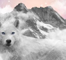The Soul That Sees Beauty (Winter Moon / Wolf Spirit) Sticker