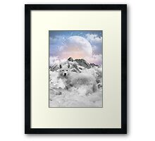 The Soul That Sees Beauty (Winter Moon / Wolf Spirit) Framed Print