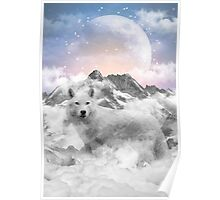 The Soul That Sees Beauty (Winter Moon / Wolf Spirit) Poster