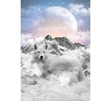 The Soul That Sees Beauty (Winter Moon / Wolf Spirit) Photographic Print