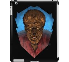 Where Does the Man End - And The Beast Begin? iPad Case/Skin