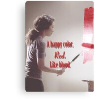 Cristina Yang - A happy color. Red. Like Blood. Canvas Print