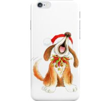 Cute Christmas character dog singing iPhone Case/Skin