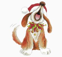Cute Christmas character dog singing T-Shirt