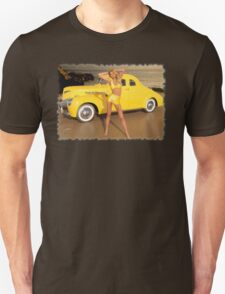 1950's Hot Rod Pinup Unisex T-Shirt